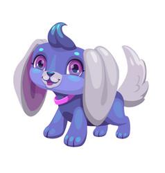 cute blue cartoon puppy vector image