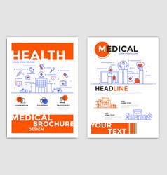 flyer design-medical flyers vector image