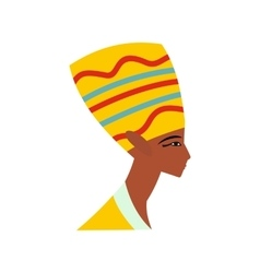 Head of Nefertiti icon flat style vector image vector image