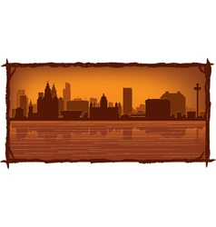liverpool england skyline vector image