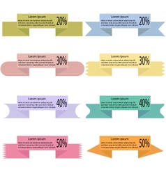 Modern colored ribbons and banners for your text vector image vector image