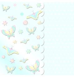 scrabbook card with butterflies vector image vector image