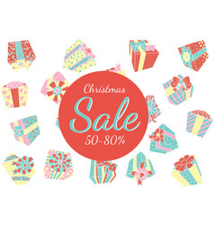 falling gift boxes christmas promo vector image vector image