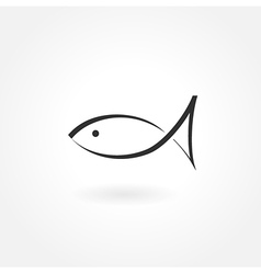 fish symbol icon simple vector image vector image