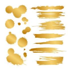 gold blots vector image