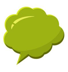 Green speech bubble icon cartoon style vector