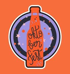 Oktoberfest Lettering Badge vector image vector image