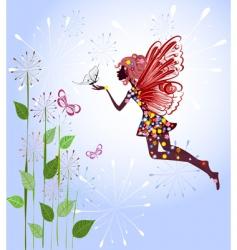 celestial fairy vector image