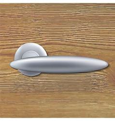 Door Handle On Wooden Background vector image