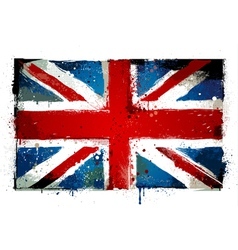 Grungy UK flag vector image vector image