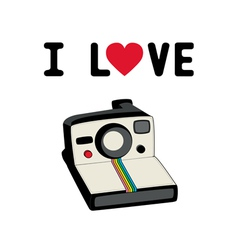 I love camera2 vector image