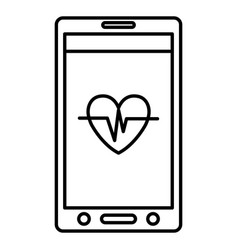 smartphone with medical app vector image
