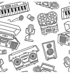 Decorative graphic musical seamless pattern vector