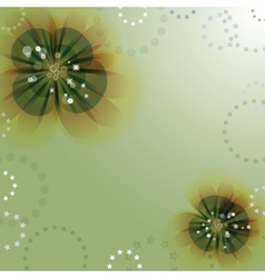 Flowers on the greeting card vector image