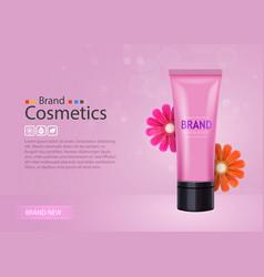 luxury skin toner bb cream or peeling scrub vector image