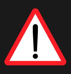 warning hazard sign flat icon vector image