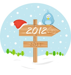 2012 christmas sign vector image