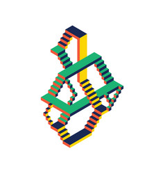abstract colorful geometric isometric style vector image