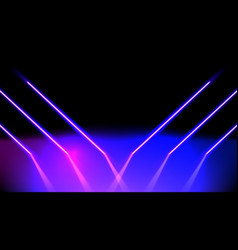 Abstract neon glowing pink and blue lines vector