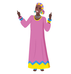 african woman wearing traditional clothes vector image