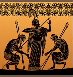 Ancient greek people vector