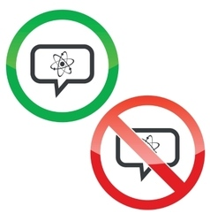 Atom message permission signs vector image