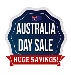 australia day sale label or sticker vector image