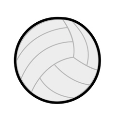 ball volleyball sport icon line vector image