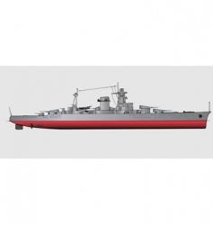 Battleship vector