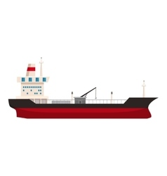 Big ship with oil icon cartoon style vector