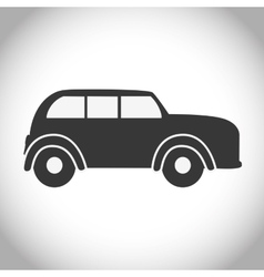 Black and isolated car design vector image