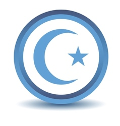 Blue Islam icon vector