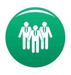 Board directors icon green vector