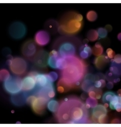 Bokeh blurred lights on dark background EPS 10 vector image