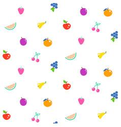 bright summer juicy fruit cartoon seamless pattern vector image