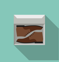 Brown shoes in box vector