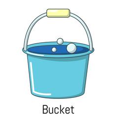 Bucket icon cartoon style vector