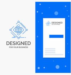 Business logo for complex global internet net web vector