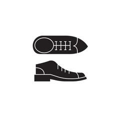 businessman shoes black concept icon vector image