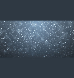 Christmas snow falling snowflakes on dark blue vector