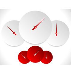 Circle dial gauge template editable vector