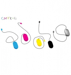 CMYK mouse vector image