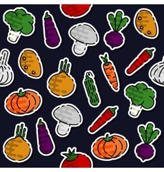 Colored vegetables pattern vector