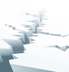 Cracked ice floe vector