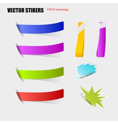 Cut stickers vector image