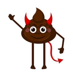 devil poop emoji vector image