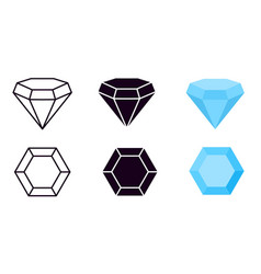 diamond icon diamonds gems jewelry diamantes vector image