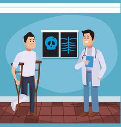 Doctors office cartoon vector