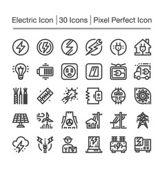 Electric line icon vector