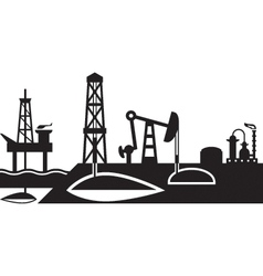 Extraction and processing oil scene vector